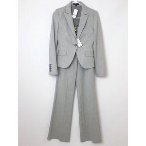 EXPRESS   Grey Editor Pants Jacket 2-Piece Suit 00